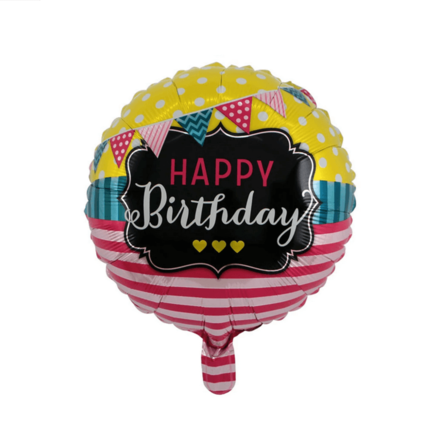 Happy Birthday Pink & White Color Letters Foil Balloon