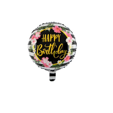 Happy Birthday Gold Color Letters Foil Balloon