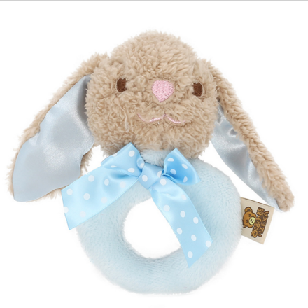 Classic Blue Rabbit Ring Rattle
