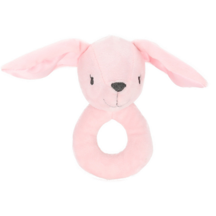 Plush Rabbit Ring Rattle