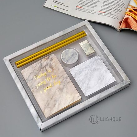 Marble Design Notebook Stationery Set