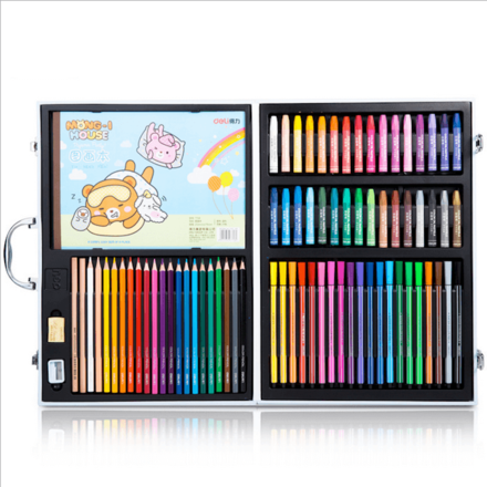 78 Pieces Art Pencils Suitcase