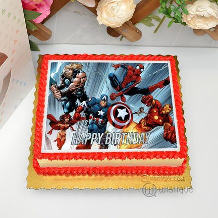 Marvel Comics Edible Print Cake  1.5Kg