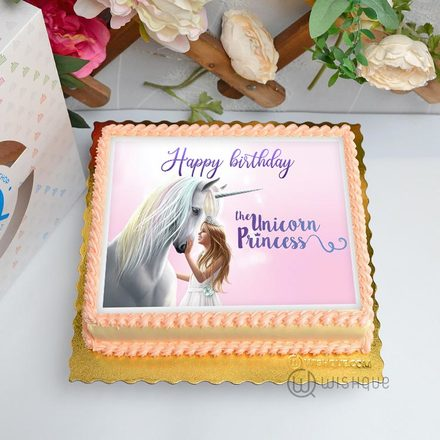 The Unicorn Princess Edible Print Cake 1.5Kg