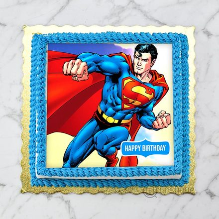 Superman Edible Print Cake 1Kg