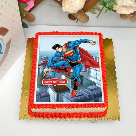 Superman The Hero's Journey Edible Print Cake 1.5Kg