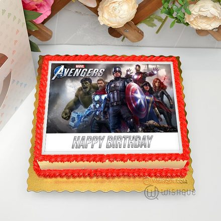 Marvel Super Heroes Edible Print Cake 1.5Kg