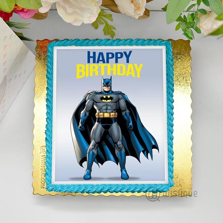 Batman Edible Print Cake 1.5Kg
