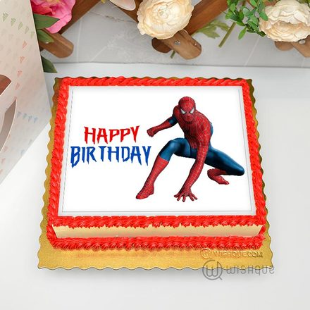 Spiderman Edible Print Cake 1.5Kg