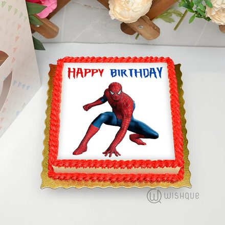 Spiderman Edible Print Cake 1Kg