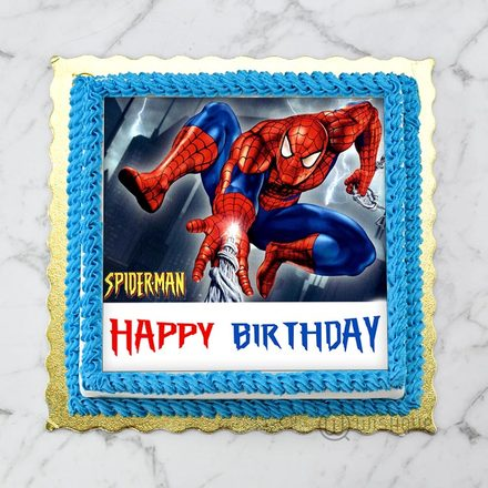 Amazing Spiderman  Edible Print Cake 1Kg