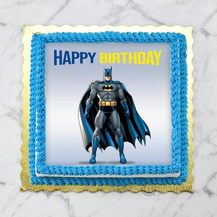 Batman Edible Print Cake 1Kg