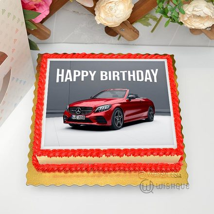 Mercedes-Benz Edible Print Cake 1.5Kg