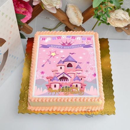 Princess Castle Edible Print Cake 1.5Kg