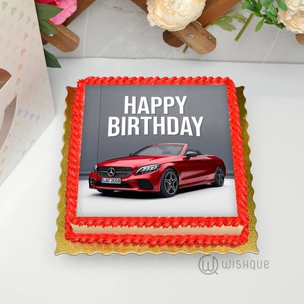 Mercedes-Benz Edible Print Cake 1Kg
