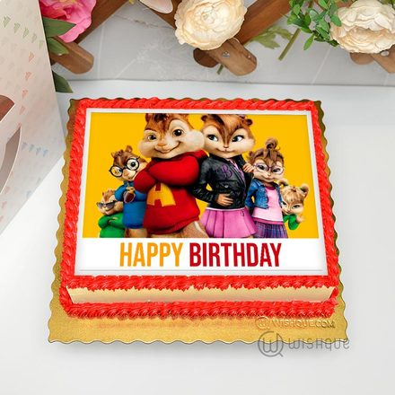 Alvin & The Chipmunks Edible Print Cake 1.5Kg