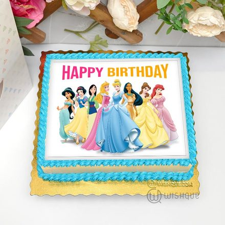 Disney Princesses Edible Print Cake 1.5Kg