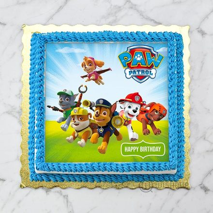Paw Patrol Six Brave Puppies Edible Print Cake 1Kg