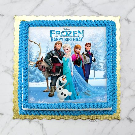 Frozen All Cast Edible Print Cake 1Kg