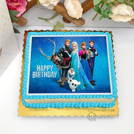 Disney Frozen Edible Print Cake 1.5Kg