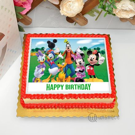 Mickey Mouse And Friends  Edible Print Cake 1.5kg