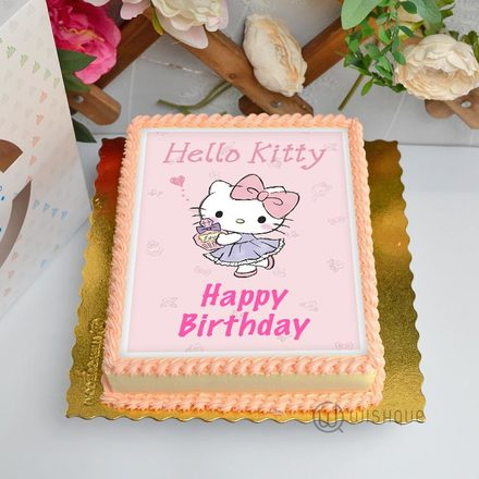 Hello Kitty Edible Print Cake 1.5Kg