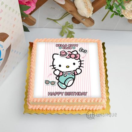 Hello Kitty Edible Print Cake 1Kg