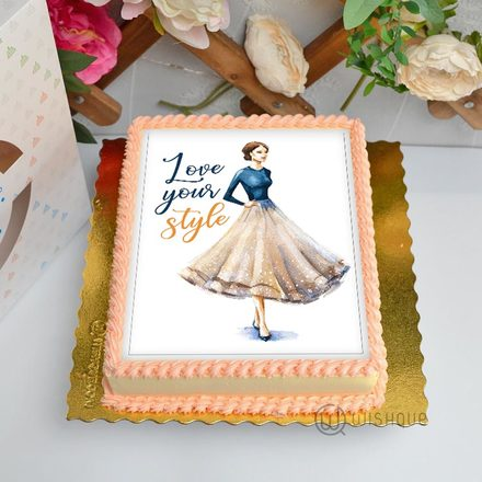 Love Your Style Edible Print Cake 1.5Kg