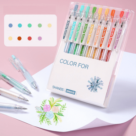 Multicolour Gel Pen Set - Blue Shades