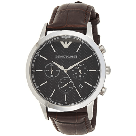 Emporio Armani Men's AR2482 Dress Brown Leather Watch