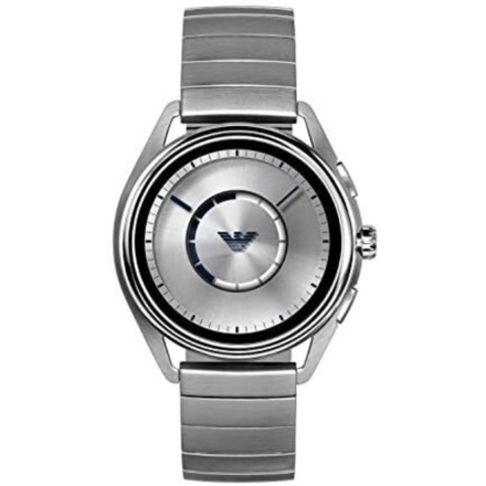 Emporio Armani Men's Quartz Smartwatch smart Display and Stainless Steel Strap