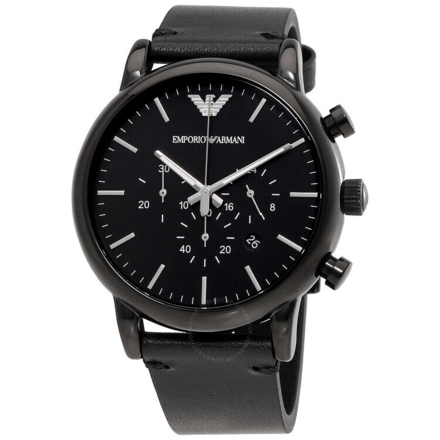Emporio Armani Men's AR1918 Dress Black Leather Watch