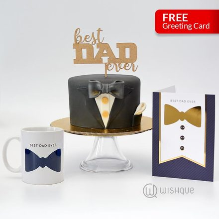 He's The Best Dad 3 Pcs Gift Set