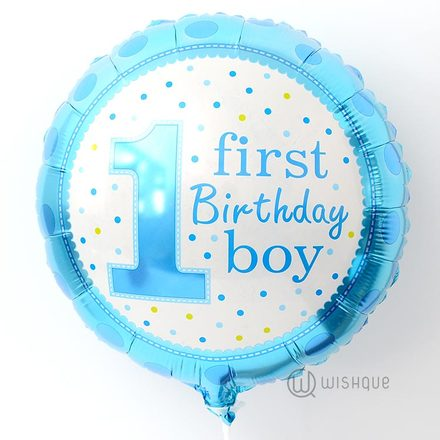 First Birthday Boy Foil Balloon