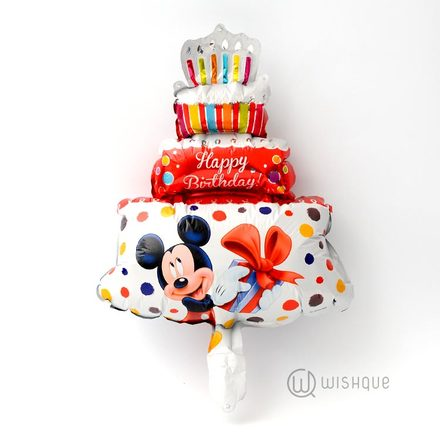 Mickey Mouse Red Color Birthday Cake Foil Balloon