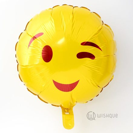 Winking Face Foil Balloon