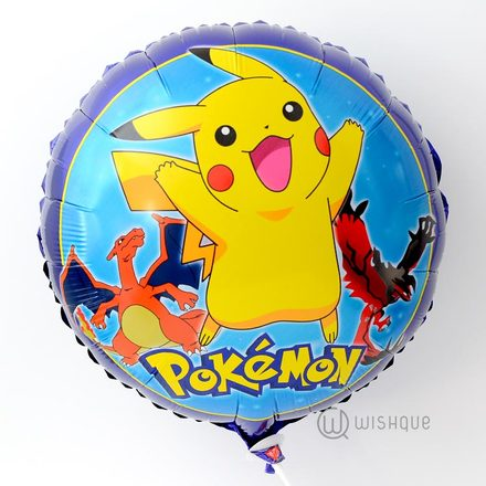 Pikachu Purple Foil Balloon