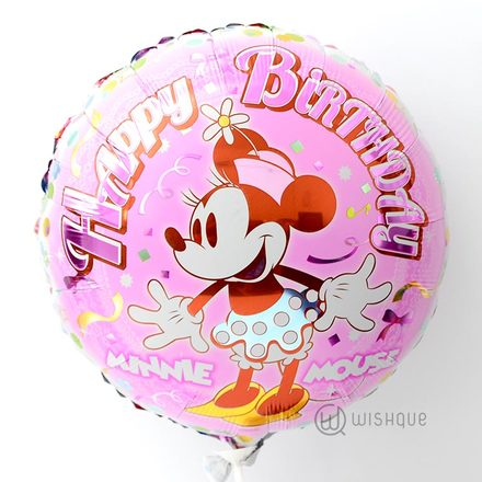 Happy Birthday Minnie Mouse Foil Balloon