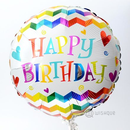 Happy Birthday Party Streamers Decor Foil Balloon