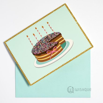That's Your Birthday Slice  Greeting Card