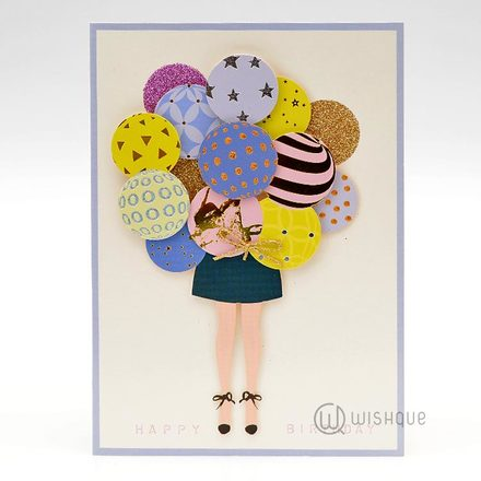 Happy Balloons Greeting Card