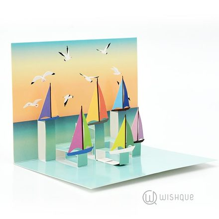 Seas-the Day Pop-Up Greeting Card