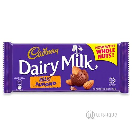 Cadbury Dairy Milk Roast Almond Chocolate 165g