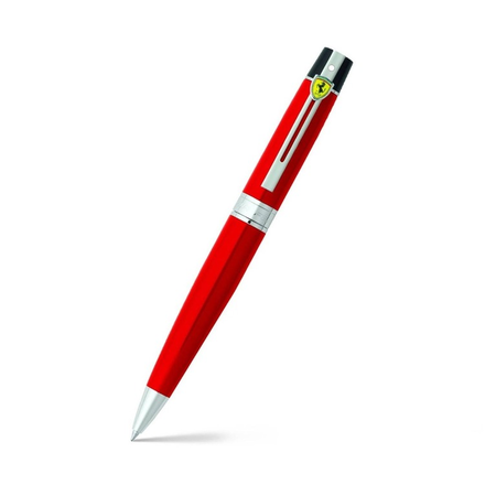 Sheaffer Ballpoint Pen Red With Nickel Plated Trim