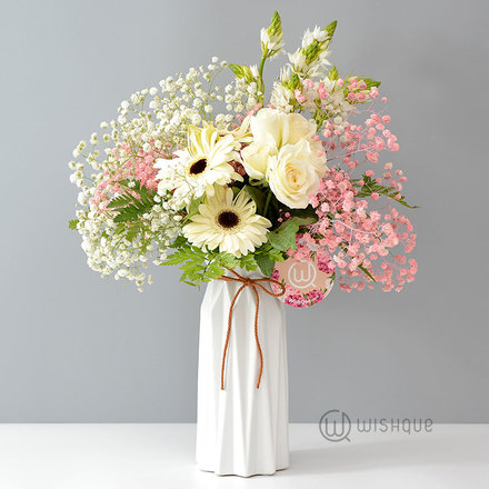 Wonderful In White Vase Arrangement
