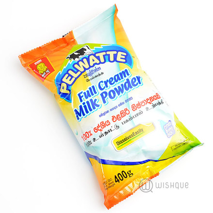 Pelawatte Full Cream Milk Powder 400g Pouch