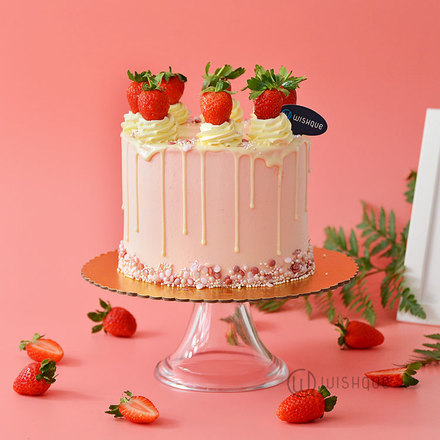 Everybody Loves The Strawberry Drip Cake