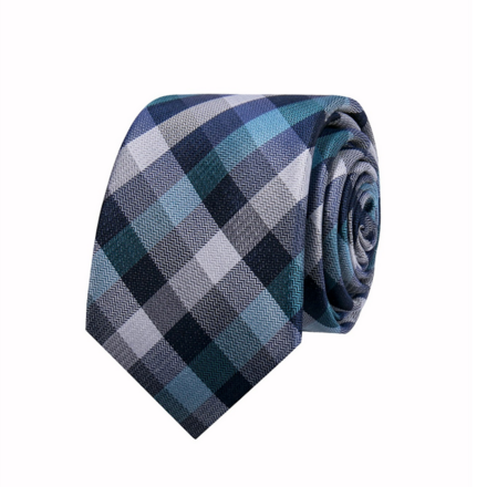 Geoffrey Beene Men's Business Blue Small Check Tie