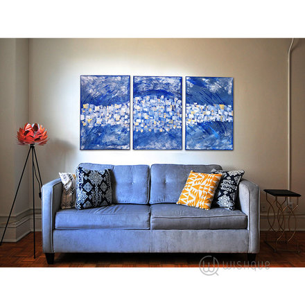 Mind's Eye Hand-Painted Abstract 3pcs Wall Art