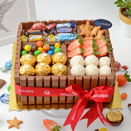 Celebrations Candy Chocolate Gift Box Cake